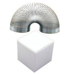 Wholesale Slinky Wholesale - Metal Slinky Type Spring Fidget Toy Funny Toys Stress Relief Autism Rainbow Springy Springs Wave OOA1410