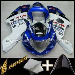 Argentina 23 colores + 8 Regalos GSXR600 2001 2003 750 2004 azul Carenado de carrocería para Suzuki GSXR 600 01 02 01-03 GSXR 750 01 GSXR-750 02 Suministro