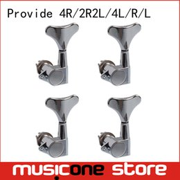 Wholesale Bass Parts - Chrome Electric Bass Guitar Left and Right hand Tuning Pegs Tuners Machine Heads Tuning Keys buttons Guitar Parts