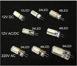 Wholesale G4 Led 1w Warm White - free ship LED G4 Bulb Mini Corn lamp DC12V AC DC12V 110v 220V 12 24 48 64LED Cold Warm White lights 1W 3w 5w LED Replace10W Halogen