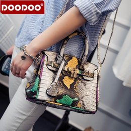 Wholesale Women Crocodile Shoulder Bag - Crocodile lock bag women small bag designer handbags famous brand 2016 women top-handle bags fashion shoulder crossbody sac