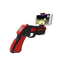 Wholesale New Model Android - 2017 New Model Portable Virtual AR Game Gun Bluetooth AR Toys Gun Ar Blaster for iPhone Android Smart Phone