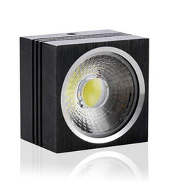 Wholesale Power Saving Switches - Wholesale- Free shipping Dimmable 7W 12W high power led downlight aluminum 86-265V AC surface mounted led lighting square led downlights
