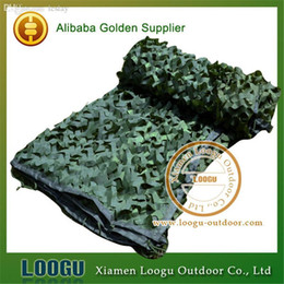 Wholesale outdoor tent covers - Wholesale-1.5M*2M Pure Green Hunting Camouflage Net Polyester Oxford Camouflage Net Outdoor Sports Tourist Tent Car-covers Camouflage Net