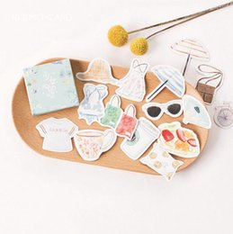 Wholesale Girls Sticker Album - Girl Heart Colorful Clothing Summer Decorative Stationery Stickers Scrapbooking DIY Diary Album Stick Label