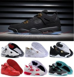 Wholesale Iv Training - Retro IV 4 Basketball Shoes Training shoes 4s Men Toro Red South Beach Green Glow Black White Cement Countdown Pack athletic shoes 5.5-13