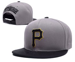 Wholesale Cap Pirates - 2017 hot selling Pittsburgh Pirates Snapback Brim Caps Baseball Snapbacks Top Quality Snap Back Caps Fashion Hiphop Hats free shipping