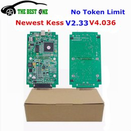 Wholesale Dtc Audi - Free Ship Newest V2.33 KESS V4.036 Main Unit Kess V2 Master OBD2 Manager Tuning Kit Remove DTC Green PCB Board For Multi-Brands