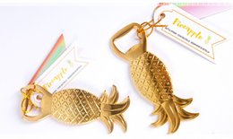Wholesale Bridal Shower Giveaway Gifts - wedding favor gifts and giveaway for guests--Pineapple Bottle Opener party Supplies Souvenirs Bridal Shower favor 100pcs lot