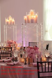 Wholesale Acrylic Cake Stand Square - New square acrylic crystal wedding table centerpiece cake stand flower holder flower stand