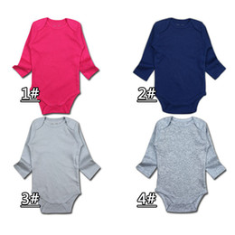 Wholesale Summer Body Suit Baby Boy - Baby Boys Girls Rompers body suit Newborn Long sleeve Romper Onesies 100% Cotton Clothing Sets Triangle for DHL