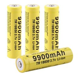 Wholesale Flashlight Sets - 3.7v 4pcs set Brand New 18650 battery 3.7V 9900mAh rechargeable li-ion battery for Led flashlight Torch cell 18650 batery
