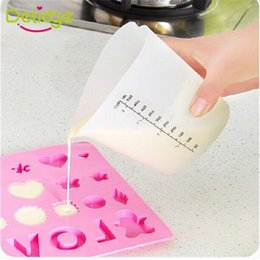 Wholesale Heart Shaped Measuring Tools - Delidge 10 pc 500 ML Measuring Cup Silicone Heart Shape Large Capacity Soft Measure Cup Home Cake Baking Liquid Measure Tools