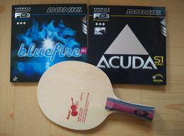 Tenis donic online-Nittaku Violín Tabla Base Tenis Ping Pong Paddle / cuchilla / Rackets Con Yasaka (Mark V, M2, R7) Donic (S1, M1) Xiom Stiga Mesa de ping pong Cauchos