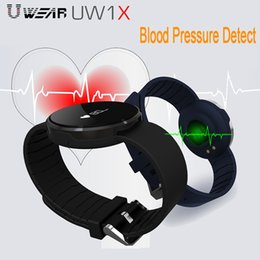 Wholesale Pulse Vibration - UW1S Smart Fitness Tracker Wristband Heart Rate Monitor Pedometer Vibration Motor Blue LED Bluetooth Smart Watch