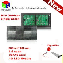 Wholesale Led Message Moving - Outdoor Waterproof Green LED Display Module 320mm*160mm 1 4 scanning p10 LED DIP Billboard Moving Message Module