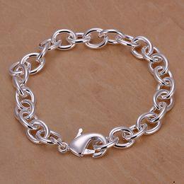 braccialetto d'argento 925 spessore Sconti nuovissimo Fascino con gambo fibbia in argento 925 da uomo, bracciale da 20cm DFMWB089, bracciale in argento placcato
