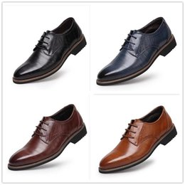 Wholesale Kitten Heel Pumps Black Dress - 2017100% Genuine Leather Mens Dress Shoes, High Quality Oxford Shoes For Men, Lace-Up Business Men Shoes, Brand Men Wedding Shoes