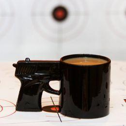 Wholesale Guns Coffee - Pistol Grip Coffee Cups And Mugs Funny Gun Mug Milk Tea Cup Creative Office Ceramic Coffee Mug Drinkware