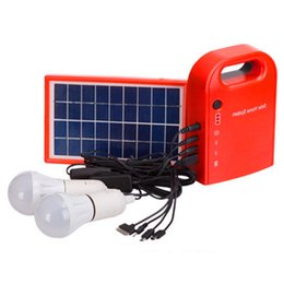 Wholesale Home Solar System - Solar power system home Power Supply Solar Generator Field Emergency Charging Led Lighting System With Lamps