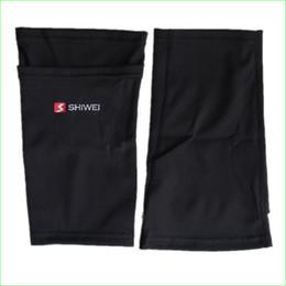 medias de espinilla acolchadas Rebajas Al por mayor-2016 Nuevo fútbol Shin Guards Holder calcetines de fútbol para fútbol almohadillas protectoras