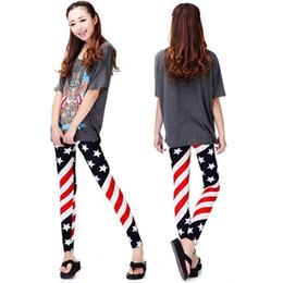 Wholesale Girls Star Leggings - Senza Fretta Women Star Leggings Stripe Leggings Girls Legging Print Pants Evening Clubwear ND228