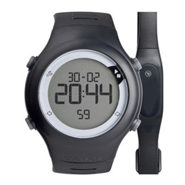 Wholesale Heart Rate Monitors Women - Wholesale- 50 Meter Waterproof Pulsometro Chest Strap Heart Rate Monitor Men Women Heartbeat Pulsometer Running Sports Watches relojes