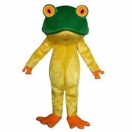 Wholesale Frog Custom - Frog New Professional Green Frog Adult Mascot Costume Fancy Dress