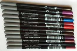 Canada LIVRAISON GRATUITE CHAUD bonne qualité Le plus bas Meilleure vente bonne vente Nouveau EyeLiner Lipliner Crayon Douze couleurs différentes + cadeau Offre