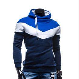 Wholesale Hiphop Wholesale Clothes - Wholesale- 2016 Autumn&Winter Mens Hoodies Brand Clothing Harajuku HipHop Sweatshirts for Male Outerwear Patchwork Tracksuits Moleton