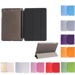 Wholesale Magnetic Slim - New Ultra Thin Magnetic Smart Case Slim Back Cover iPad mini 1 2 3 iPad 2 3 4 5 6 Back Case 1PCS