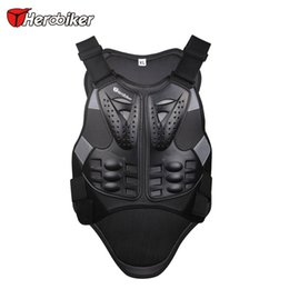 Wholesale Motorcycle Riding Armor Jacket - Herobiker Motocross Racing Armor Black Motorcycle Riding Body Protection Jacket With A Reflecting Strip Motorcycle Armor