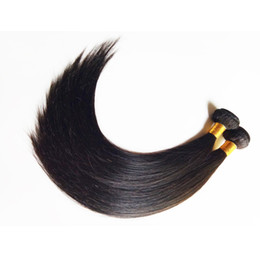 Discount natural black 1b hair color - Unprocessed beauty Brazilian virgin Human Hair Weaves straight 8-26inch soft silk Natural Color and Black #1 #1b Indian Remy hair weft