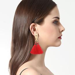 Wholesale Tassels Multicolor - Classic Tassel Earrings Temperament Multicolor Women Earrings Jewelry Popular Folk Style Characteristics Fashion Earrings SY- 24