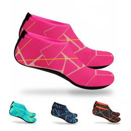 Wholesale Wetsuit Swimming Man - DHL Men Women Water Skin Shoes Aqua Socks Neoprene Diving Socks Wetsuit Prevent Scratch Non-slip Swim Beach Shoes