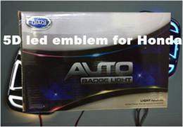 Wholesale Fit Symbol - 5D car led emblem car led badge car led symbols logo white red blue color for H*nda