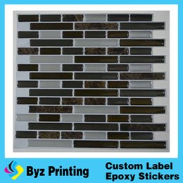 Wholesale Vinyl Adhesive Tiles - Customized Hot sale Moscow ceramic wall tile sticker 3d decorative epoxy wallpaper