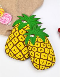 Wholesale Fresh Pineapples - Summer small fresh pineapple fruit 3D cartoon silicone phone shell drop resistance case for iphone 5s 6s plus 4.7 5.5 7plus