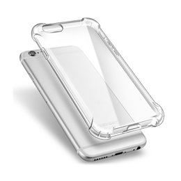 Wholesale Apple Broken - Shockproof Transparent Soft For IPHONE 6 6S 6 PLUS 7 7 PLUS TPU Case 360 Degree Full Cover Anti-break Transparent Protective Cover Protector