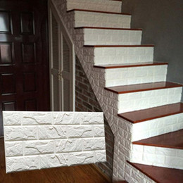 Wholesale Tv Wall Design Wallpaper - 3D Brick Pattern Wallpaper Bedroom Living Room Modern Wall Background TV Decor