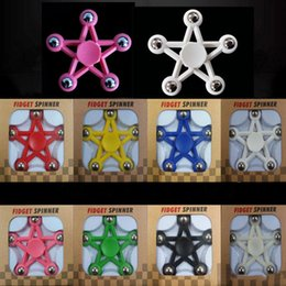 Wholesale Star Sports Wholesale - New Five Star Hand Spinner Wholesale Fidget Spinners fingertips spiral fingers Star Tri-Spinner Fidget Adults Stress Relief Kids Gift