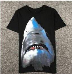 Wholesale Yeezus Shirt L - shark T Shirt Men Top Quality 100% Cotton Hip Hop aapes Street Short Sleeve Tees Kanye West Yeezus Couple T Shirt
