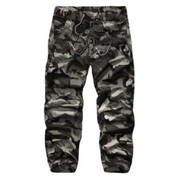 Wholesale camouflage trousers - Wholesale- New Autumn High Quality Men'S Cargo Pants Camouflage pants Cotton Trousers For Men Comfortable Casual Long Pants Camo Jogger