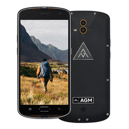 Wholesale Tri Proof Phones - Original 5.5 inch AGM X1 Tri-proof Octa core 4G 64G Smartphone 4G Qualcomm Snapdragon 617 Android 5.1 5400mAh IP68 Mobile phone