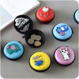 Wholesale Finish Business - High quality creative headset bag cartoon cute collection bag mobile phone data line finishing mini coin purse