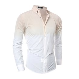 Wholesale Cheap Xxl Dresses - Cheap Leisure Man Dress Shirts Long Sleeve Turn Down Dress Shirts Men Slim Spring Fall Clothing Fashion Dyeing Tops M-XXL High Quality