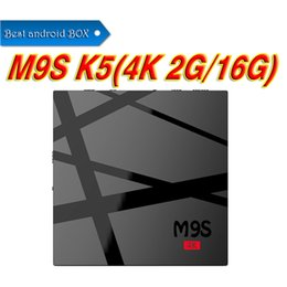 Wholesale Movie Streams - M9S K5 2G 16G Android 6.0 KD 17.3 Fully Loaded Rockchip 3229 Smart TV Box TV 4K Streaming Media Player WiFi 3D Free Movies Openbox VS MXQPRO