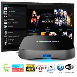 Wholesale Dual Core Tv Box Amlogic - T95R pro Amlogic S912 2GB 16GB TV Box Android 7.1 Fully loaded KDMC17.1 dual band Wifi 2.4G 5G BT4.0 Octa core TV Box Android