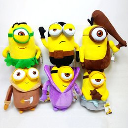 Wholesale Despicable Stuffed Animals - New 20cm Despicable Me Plush Toys Cartoon Cute Despicable Me Stuffed Animals Soft Doll Toys children gift EMS A119