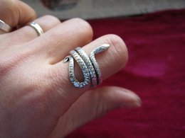 Wholesale Nationals Band - Guizhou Miao jewelry national wind ring ring handmade Miao silver men and women of the individual snake ring